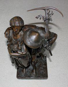 Henry Etienne Dumaige (Frankreich 1830-1888) - Bronzefigur | Antiquitäten & Kunst, Metallobjekte, Bronze | eBay!