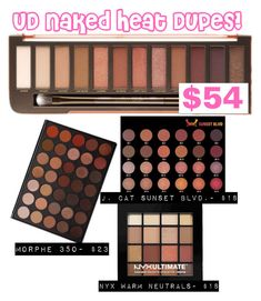 With all these dupes for this Beauty Dupes, Beauty Hacks, Urban Decay Naked Heat, Expensive Makeup, Eyelash Sets, Make Up Dupes, Fake Lashes, Makeup Tips, Makeup Ideas