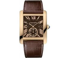 Tank MC watch - Automatic, steel, leather - Fine Timepieces for men - Cartier Rolex Watches For Men, Mens Watches Leather, Fine Watches, Cool Watches, Men's Watches, Cartier Watches, Wrist Watches, Unique Watches, Luxury Watches