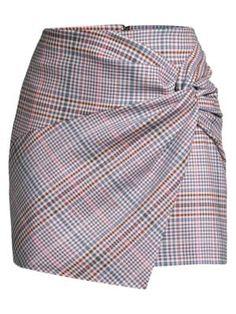 Parker Montaigne Plaid Twist Front Miniskirt In Peggy Plaid Cheap Dresses, Casual Dresses, Fashion Dresses, 60s Dresses, Vintage Dresses, Flapper Dress Cheap, Cute Skirts, Mini Skirts, Check Mini Skirt
