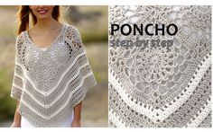 Lace Squares PONCHO CROCHET Size: S/M – L/XL – XXL – XXXL