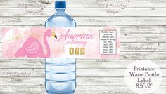 Check out this item in my Etsy shop https://www.etsy.com/listing/528456447/flamingo-water-bottle-labels-flamingo