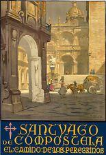 TT67 Vintage Santiago De Compostela Spain Spanish Travel Poster A3/A2 Re-print