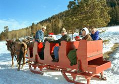 Sleigh ride through the mountains and hills.   Wow!   Check this out.  We'll find the perfect vacation rental for your visit to northern New Mexico.   We'll treat you like a Santa Fe local.   It's the next best thing to living here.     http://www.vallescaldera.gov/comevisit/rides/