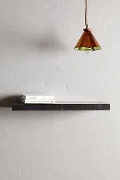 Zinc Floating Shelf #anthropologie