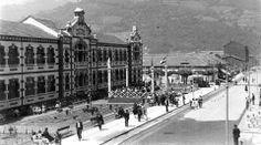Concierto de la Banda de Música,delante de Liceo,hacia 1950.(La foto creo que ye de Frank).