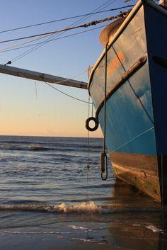 Beached shrimp boat, Kiawah Island, SC