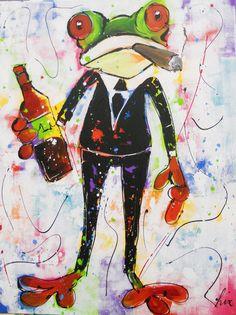 Collectie Kikkers http://www.vrolijkschilderij.nl