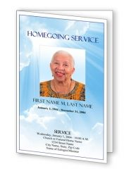Blue Sky Funeral Program Template