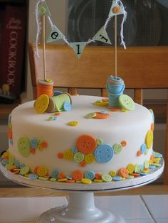 "Cute as a Button Cake | Cute as a Button"" Cake 