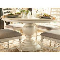 Shown in Linen Finish. Linen - An off-white finish with medium distressing. Paula Deen has strong ideas about her furniture and you can see it in this piece. Her philosophy of treating her family like company and her company like family, has inspired this whole line of furniture. She likes for everybody to feel comfortable like they've just come home after a long time away. You can definitely tell that this furniture has been inspired by her life in the South and her home in Savannah, Geo...