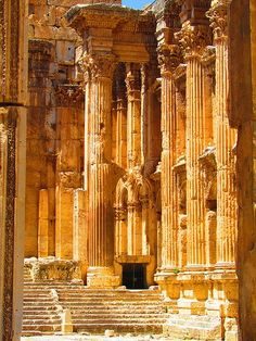 Temple of Bacchus, Baalbek (بعلبك)