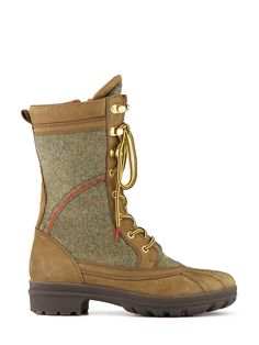 Ladies Chunky Leather Boot | Hiking Style Boot | Hunter Boots