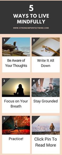 5 ideas to help you stay present and live mindfully. For full article, click the link.