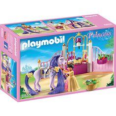 Das Pferd der Prinzessin steht im königlichen Pferdestall und freut sich jeden Tag über die Zuneigung des royalen Nachwuchses.<br /> <br />  Der Stall ist für das Lieblingshaustier der Prinzessin natürlich optimal ausgestattet. Die Prinzessin liebt es ihr Pferd zu versorgen! <br /> <br /> Vor einem Ausritt frisiert sie das Pferd und verziert die Mähne mit Blüten- Haarspangen. <br /> <br /> Inhalt: <br /> <br &#x2F...