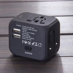 The World's First Global Travel Adapter Can Be Used in 150 Countries Alternative Power Sources, Packing List For Travel, Travel Wardrobe, Free Travel, Travel Light, Apple Products, Travel Abroad, Cool Gadgets, First World