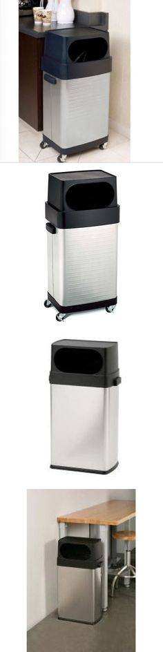 Trash Cans And Wastebaskets Interesting Trash Cans And Wastebaskets 20608 Kitchen Recycle Bin 30L Stainless 2018