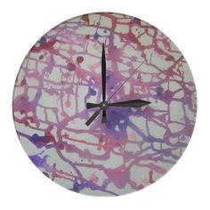 Wirrwarr Uhr rosa, pink und lila