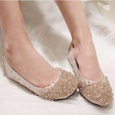 crystal wedding shoes ballet dancing shoes-ZZKKO