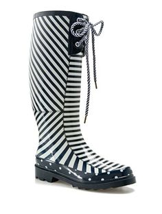 striped rain boots wellies