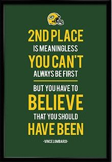 Vince Lombardi Green Bay Packers Inspirational 2nd Place Quote Poster Print | NFL Memorabilia | Wall Art for Football Fans Visit our Etsy store for inspirational quotes and jersey art prints of your favourite teams! #inspirational #quote #poster #mancave #fathersday #gift