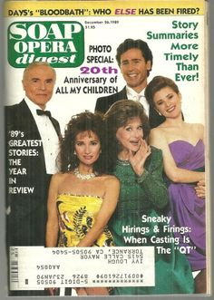 All My Childrens 20th Anniversary I Miss Them Last Episode Soap Opera Stars Photo
