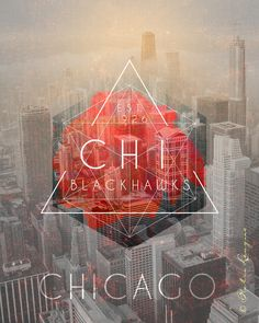 Chicago Blackhawks Skyline Art - Featuring CHI-town - Perfect Birthday Anniversary or Wedding Gift for Your Blackhawks Fan - UNFRAMED Print