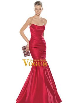 Shop Trumpet Mermaid Bateau Floor length Sleeveless Satin Ruffled Prom Dress & gowns inexpensive, formal & vogue party dresses boutique online.