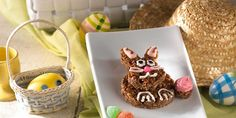 Chocolate Bunny Treats™ Recipe | Kellogg's® Rice Krispies® Use recipe to make brown/chocolate nests to hold eggs or peeps.