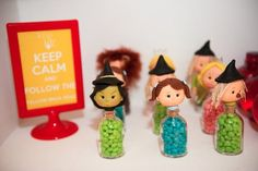 Cute favors at a Wizard of Oz Party.  See more party ideas at CatchMyParty.com.  #wizardofozpartyideas