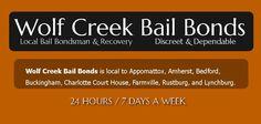 Wolf Creek Bail Bonds serves a 75 mile radius of Lynchburg. Bail bondsman serving Lynchburg, Appomattox, Amherst, Farmville, Rustburg, & Charlotte Court House. http://www.wolfcreekbailbond.com
