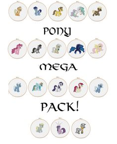 Pony Mega Pack - 18 Ponies PDF Pattern Cross Stitch