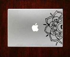Half Mandala Flower Unique Decals Stickers For Macbook 13 15 inch Pro Air Decal #RusticDecal