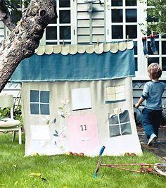 Make a clothesline playhouse