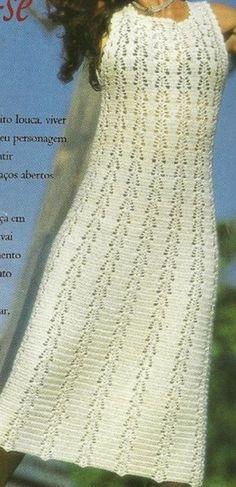 Летний сарафан крючком