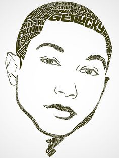 Pharrell Williams Typographic Design by Seanings