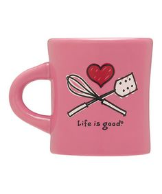 Take a look at this Love to Cook Diner Mug by Life is good® on #zulily today!