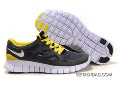 sports shoes 7d670 f904d ... uk womens nike free run 2 running shoes grey yellow 8f289 80c6c