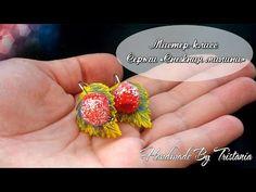 """Мастер-класс: Серьги """"Снежные малины"""" из полимерной глины FIMO/polymer clay tutorial - YouTube"""