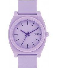 Mens Nixon Time Teller Violet Rubber Strap Watch 49.50 Watches2U