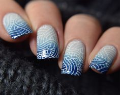 Picture Polish - Cosmos & Lakodom | Rica - Whiteout | UberChic 9-03 stamping plate