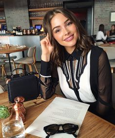 black and white blouse.
