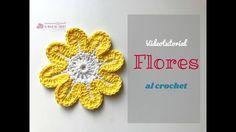 Cómo hacer flores de 8 petalos al crochet  -La Magia del Crochet-