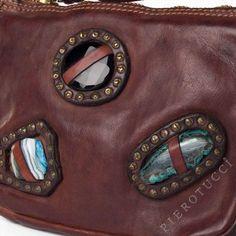 Campomaggi small leather cross body bag for women, dark brown  Campomaggi | Leather handbags for women with semi precious stone  http://www.pierotucci.com/bags/caterina_lucchi/