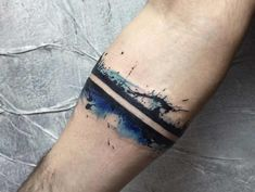 Bein Band Tattoos, Band Tattoos For Men, Tattoo Band, Cuff Tattoo, Brush Tattoo, Band Tattoo Designs, Forearm Band Tattoos, Half Sleeve Tattoos Designs, Tattoo Now