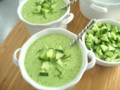 Avocado Soup - perfect on a HOT summer day!