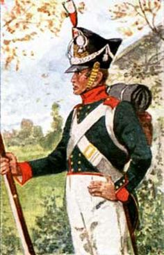 Private Hanseatic Legion line infantry 1813 Fig. H Knotel.