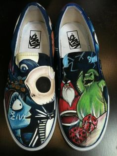 Custom Painted Vans by LittleMissApril on Etsy (I made an inhuman noise.)