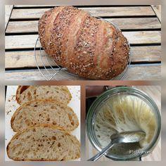 Kovászos kenyér | Betty hobbi konyhája Naan, Bread, Baking, Recipes, Food, Healthy Food, Brot, Bakken, Recipies