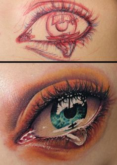 AMAZING!!  You know you are an amazing tattoo artist when you can create THIS from drawing strait into someone's skin